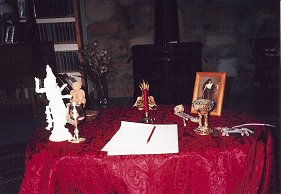 Full moon ritual altars