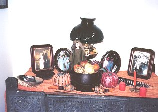 Foyer altar for November